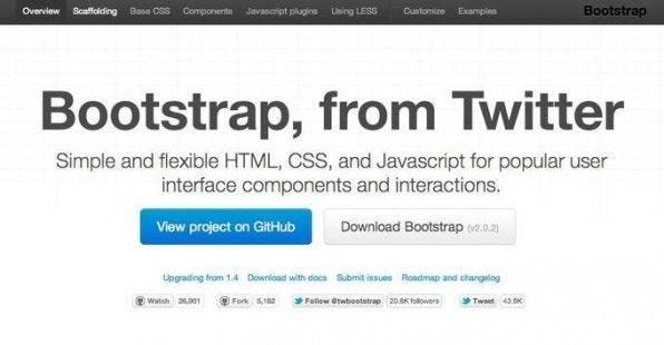 Twitters Bootstrap-2.0-Startseite ist ebenfalls mit Bootstrap gebaut. Man kann sich die Beispiele anschauen und durch Skalierung des Browsers einschätzen, wie sich die Komponenten im Responsive Design verhalten.