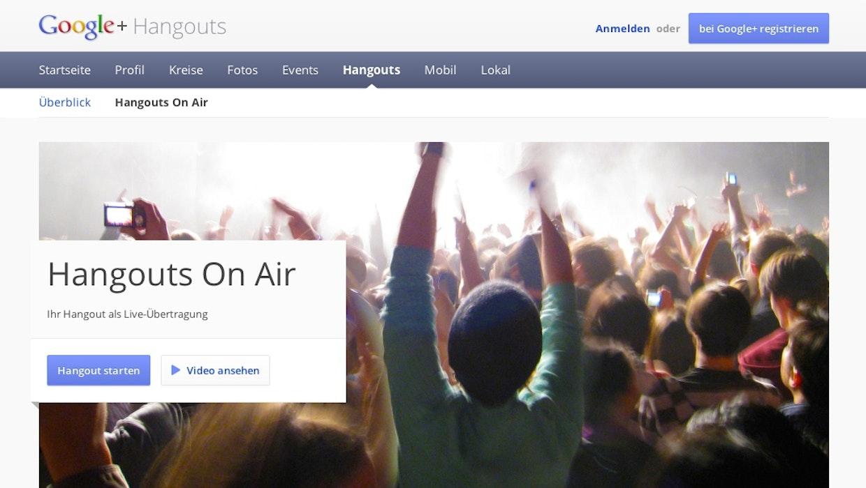Hangouts on Air nur mit Rundfunklizenz, das Ausland lacht [Kolumne]