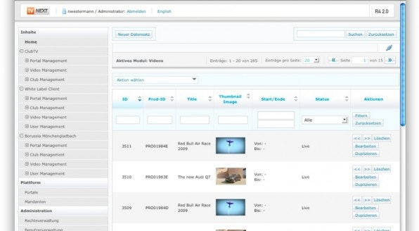 Mit Tools wie das von TVnext lassen sich Unmengen von Videos, Plattformen und Kanäle verwalten.