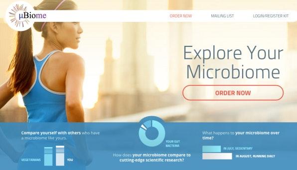 uBiome bietet die Analyse der im Körper befindlichen Bakterien. Auf Wunsch können die Kunden ihre Daten auch in eine wissenschafltiche Datenbank speichern lassen, was der Forschung zugute kommt.