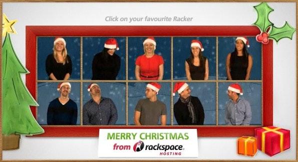 Weihnachtskarten 2010: Rackspace Hosting sagte danke