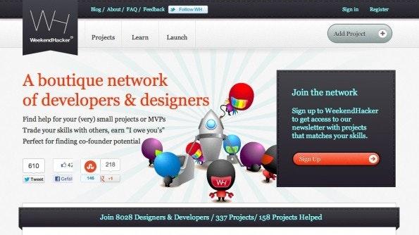 WeekendHacker richtet sich an Webdesigner und -Entwickler, ist aber keine klassische Jobplattform.