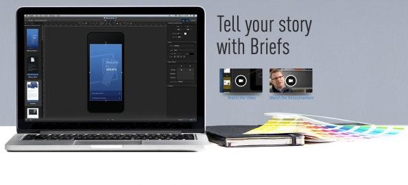 Die Mac-App Briefs ist eine der teureren Varianten für iOS-Prototyping. (Screenshot: Giveabrief)