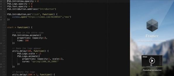 (Screenshot: Framer.js)
