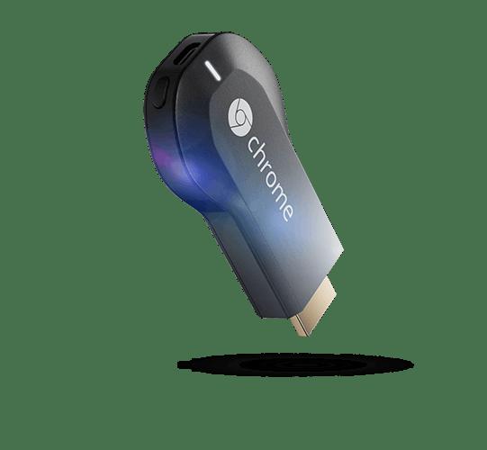 Der Google Chromecast: Ein kleiner HDMI-Stick, der Video- und Audioinhalte von mobilen Geräten streamen kann.