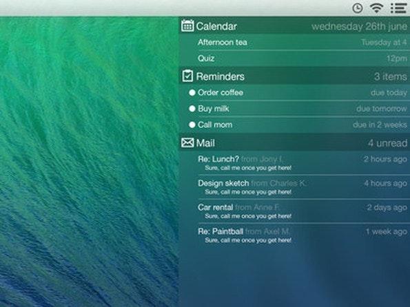Notification-Center im iOS-7-Look. (Bild: Gustav Kjellin)