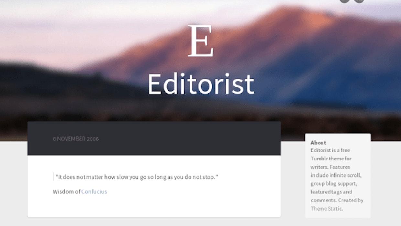 10 schicke und kostenlose tumblr-Themes für deinen Blog