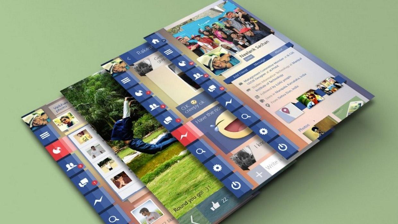 App-Konzept: So schick könnte Facebook tatsächlich aussehen