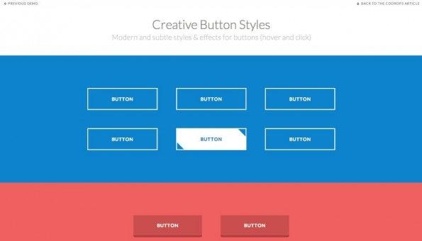 Frontend-Demo: Kreative Beispiele für Buttons. (Screenshot: Codrops)