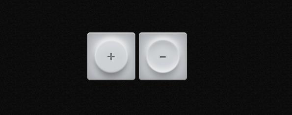 Fotorealistische Buttons mit Blisterpackung-Effekt