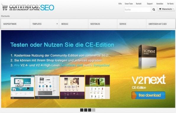 (Screenshot: commerce:seo)