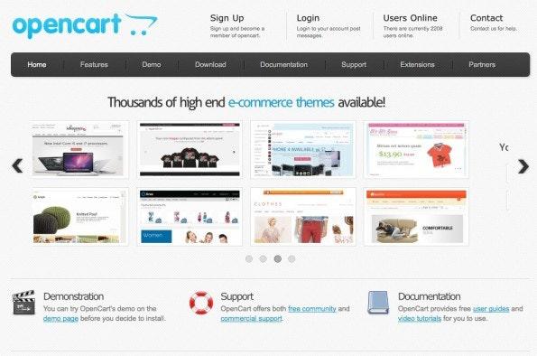 (Screenshot: OpenCart)