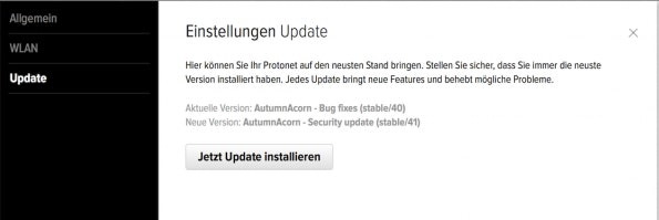 protonet-update-installieren