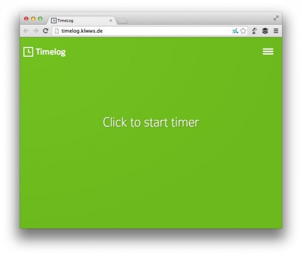 TimeLog besticht durch Einfachheit und Eleganz. (Screenshot: TimeLog)