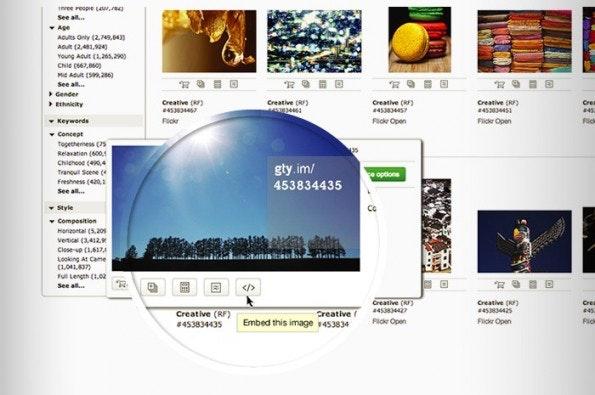 Getty Images: Der Anbieter behält sich das Recht vor, auch Werbung einzublenden. (Bild: Getty Images)
