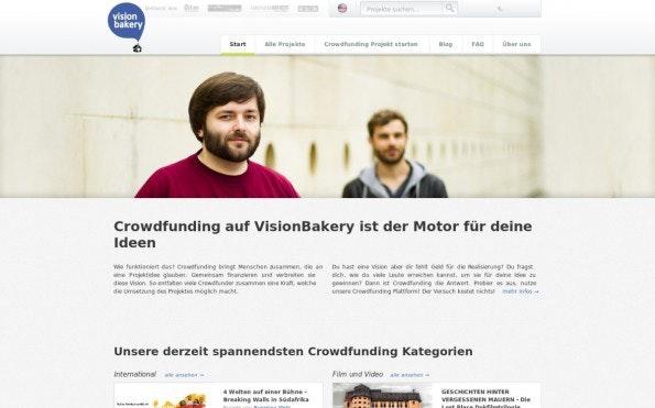 Back dir deine Startup-Vision, so lautet das Motto der Leipziger Plattform. (Screenshot: t3n)