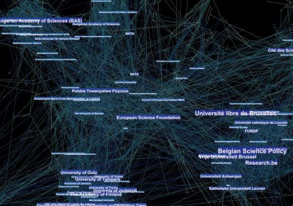Datenvisualisierung mit Gephi.