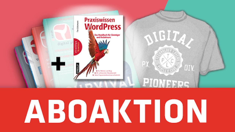 """t3n-Aktion: Jetzt Abo mit Buch """"Praxiswissen WordPress"""" sichern!"""