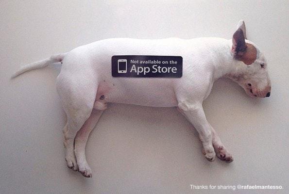 Not On App-Store: Es gibt Dinge im Leben, die kann euer Smartphone euch nicht bieten. (Bild: notonappstore.com)