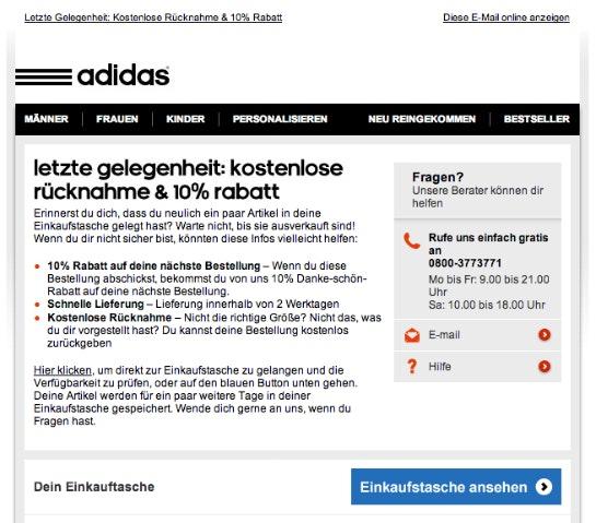 Adidas. (Quelle: Online Marketing Rockstars)