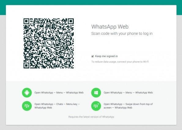 WhatsApp Web: Offizielle Version im Browser gestartet. (Screenshot: WhatsApp Web)