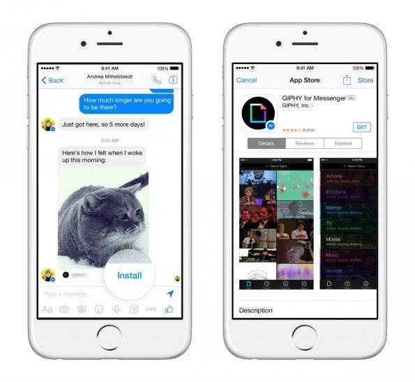 Der Facebook-Messenger soll zur universellen Kommunikationsplattform werden. (Screenshot: Facebook)