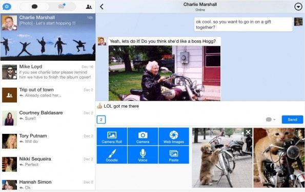 Chat statt Mail: Hop existiert als einzige App auf dieser Liste auch in einer Android-Version. (Screenshot: Play-Store)