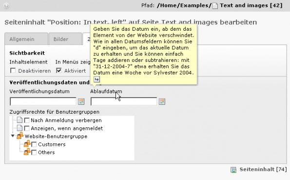 Immer noch häufig im Einsatz: TYPO3 CMS 4.5. (Screenshot: TYPO3.org)