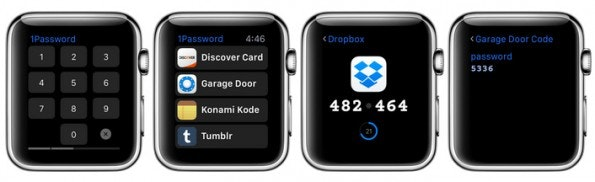 Apple Watch: 1Password the password manager for your wrist.  (Graphic: 1Password)