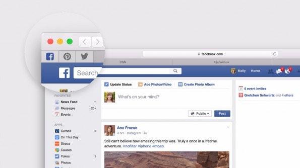 Tabs können im neuen Safari nun auch angepinnt werden, genau wie bei Firefox und Chrome. (Quelle: Apple.com)