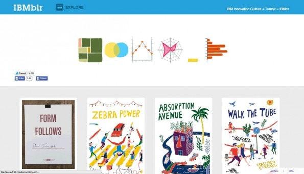 Gelungene Unternehmensblogs: IBM. (Screenshot: IBM / Tumblr)