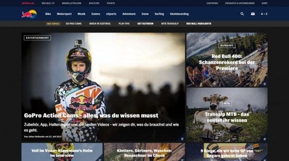 Gelungene Unternehmensblogs: Red Bull. (Screenshot: Red Bull)