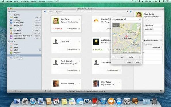 Viele mobile Anwendungen wie Money erleichtern die Eingabe von Ausgaben durch Geotagging. (Screenshot: Jumsoft)