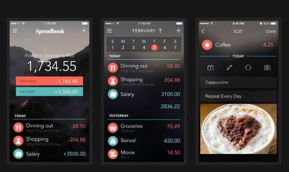 Farbige Auswertungen wie hier bei Spendbook geben dem Anwender Einblick in seine finanzielle Situation. (Screenshot:Spendbook)