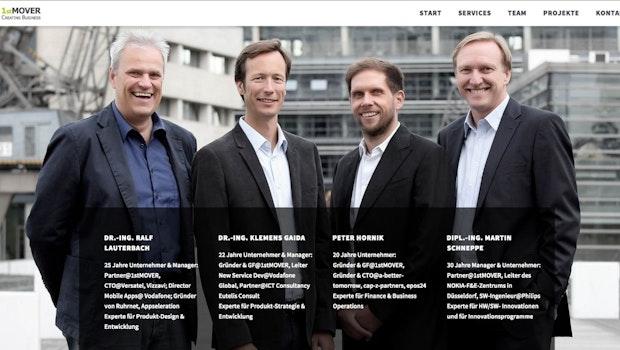 In Düsseldorf greift der Inkubator 1st MoverGründerteams aus den SegmentenPublishing, Marketing und Produktivität unter die Arme. Bis zu 100.000 Euro Anschubfinanzierung erhalten die Pre-Seed- und Seed-Startups, dazu Beratung, operative Unterstützung und eine vergünstigte Infrastruktur. (Screenshot: 1st Mover)