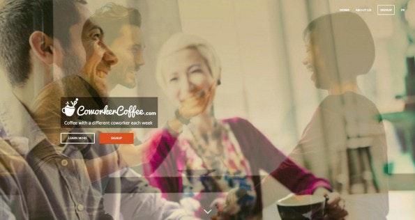 Coworker Coffee bringt euch jede Woche mit einem Kollegen zusammen. (Screenshot: Coworker Coffee)
