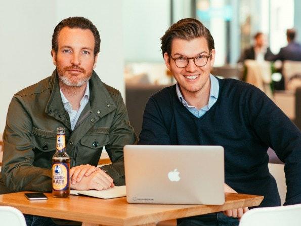 Die Number26-Gründer Maximilian Tayenthal und Valentin Stalf. (Foto: Presse)