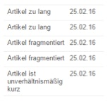 Google News Fehlermeldungen