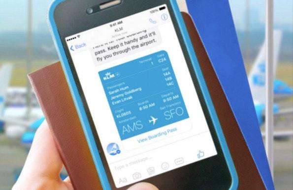 Bots sind deswegen derzeit so heiß, weil sie genau an der Schnittstelle zwischen Messaging und AI angesiedelt sind, also gleich zwei heiße Themen miteinander verbinden. (Foto: KLM)