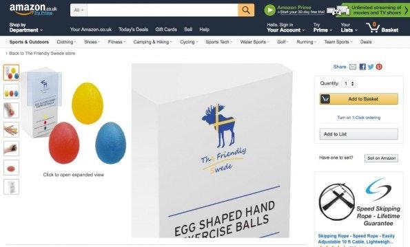 Eine Produktverpackung von The Friendly Swede. (Screenshot: Amazon)