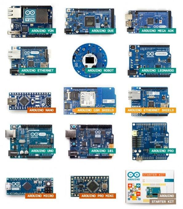 Eine Auswahl verschiedener Arduino-Boards. (Screenshot arduino.cc)