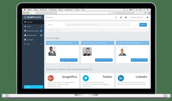 Auf Basis von Daten aus sozialen Netzwerken und Online-Diensten wie Github oder Stackoverflow erstellt die Plattform passende Bewerberprofile. (Bild: Talentwunder)