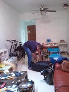 Kai beim Couchsurfing in Guanghzou. (Foto: Jörg Kundrath)