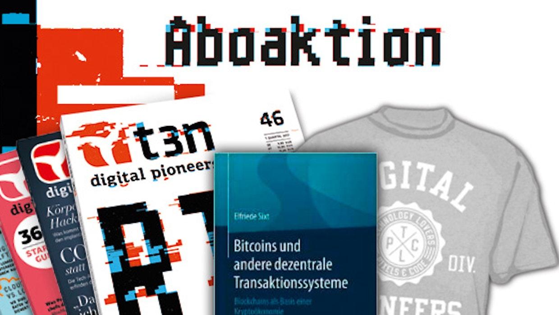 t3n-Abo inklusive Bitcoin-Buch von Springer