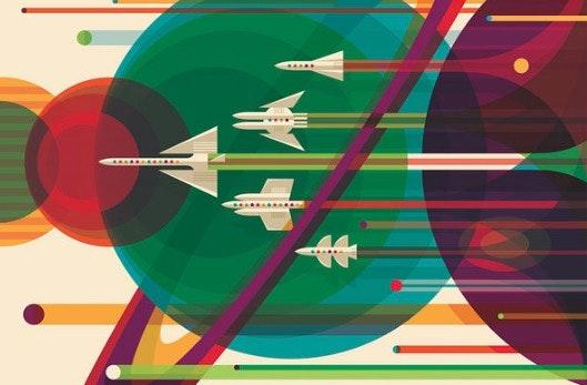 Warum nicht mal Kunst verschenken? Drei Drucke mit Sci-Fi-Bezug gibt es zum Preis von 60 US-Dollar. (Bild: Invisible Creature)