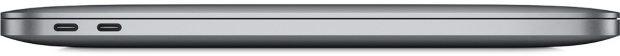 Das neue Macbook Pro (ohne Touch Bar) besitzt lediglich zwei USB-Typ-C-Abschlüsse links – und eine Audiobuchse auf der rechten Gehäuseseite. (Bild: Apple)