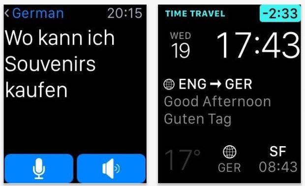Apple Watch app: iTranslate bridges the language barrier.  (Screenshot: App Store)