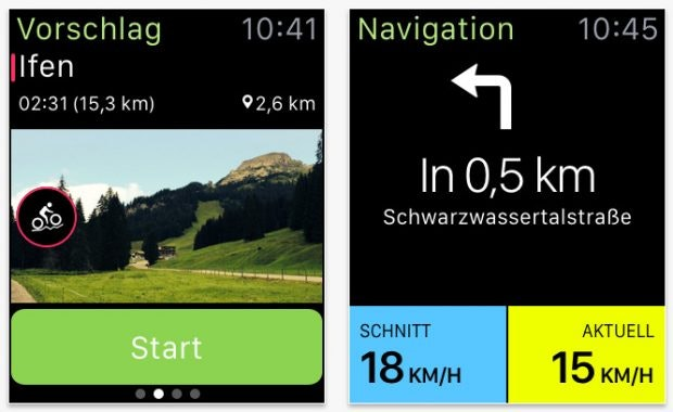 Konoot: Cyclists and hikers will find interesting routes here.  (Screenshot: App Store)