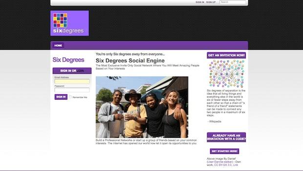 Six Degrees war das erste soziale Netzwerk. (Screenshot: Six Degrees)