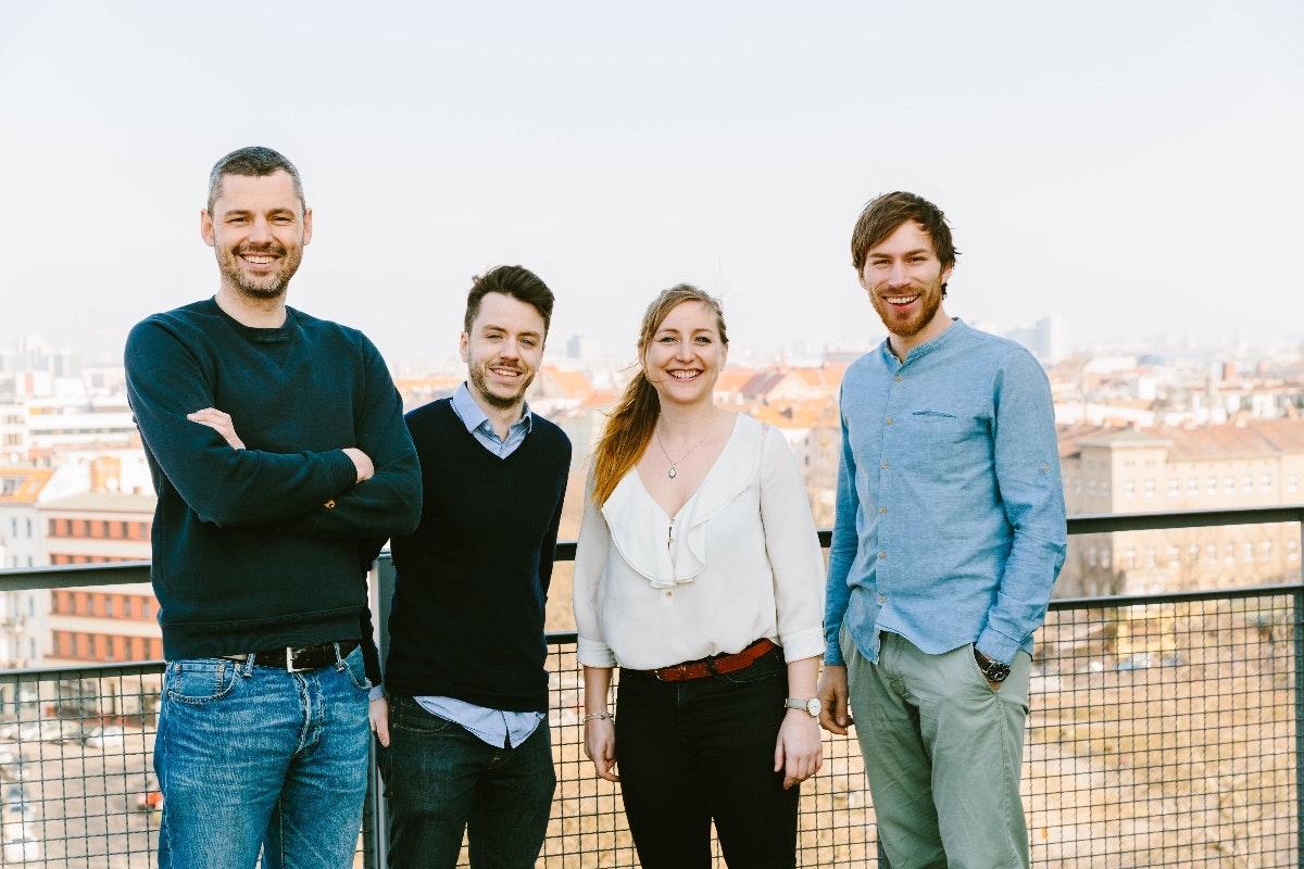 Das Share-Team: Sebastian Stricker, Ben Unterkofler, Iris Braun und Tobias Reiner. (Foto: © Gene Glover)